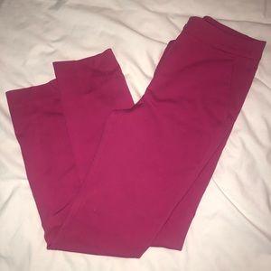 Fuchsia tapered dress pants